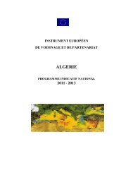 Le Programme Indicatif National 2011 – 2013 - European Commission