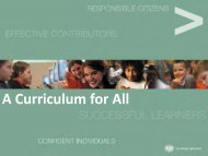 Curriculum PowerPoint (Calum MacSween) - Lochaber High School