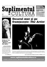 Oscarul mut [i pe fran]uze[te: The Artist - Suplimentul de Cultura