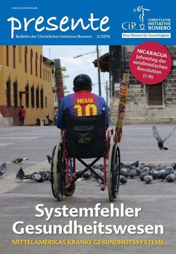 Systemfehler Gesundheitswesen. Mittelamerikas kranke Gesundheitssysteme.