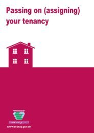 Passing On (Assigning) Your Tenancy - The Moray Council