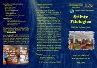 Ştiinţe filologice. Sala de lectură nr. 2 - Biblioteca Ştiinţifică a ...