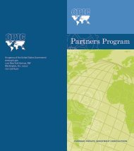 Partners Program - Overseas Private Investment Corporation