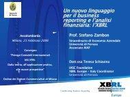Un nuovo linguaggio per il business reporting e l'analisi finanziaria: l ...