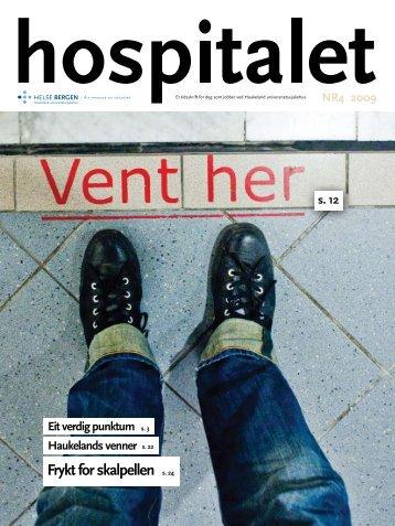 Hospitalet 2009 Nr 4.pdf - Helse Bergen