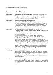 Kader van Systemisch Werk - Bert Hellinger Instituut Nederland