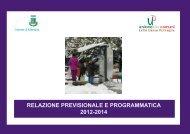 relazione previsionale e programmatica 2012-2014 - Comune di ...
