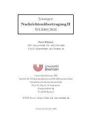 Lösungen NachrichtenübertragungII WS 2009/2010 - Universität ...