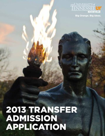 2013 TRANSFER ADMISSION APPLICATION - Office of ...
