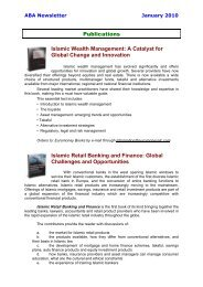 Publications Islamic Wealth Management: A Catalyst for Global ...
