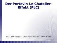 Der Portevin-Le Chatelier- Effekt (PLC)