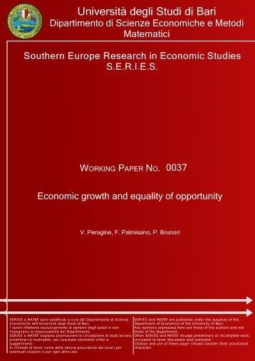 Scienze economiche e metodi matematici - Università degli Studi di ...