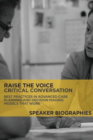 Speaker Biographies - American Academy of Nursing