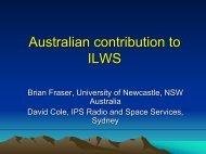 Australian contribution to ILWS