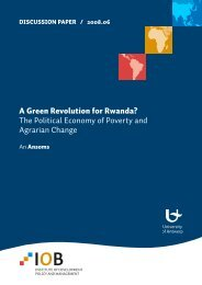 A Green Revolution for Rwanda? The Political Economy of Poverty ...