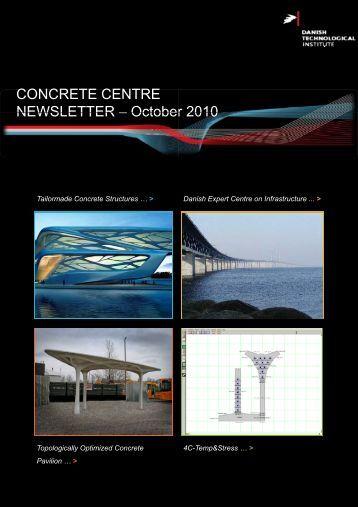 Newsletter Concrete Centre October 2010 - Danish Technological ...