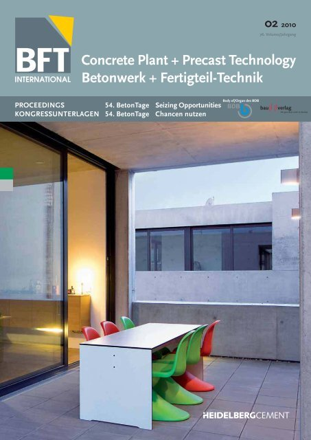 Concrete Plant + Precast Technology Betonwerk ... - BFT International