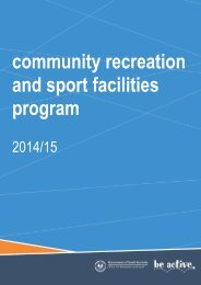 community recreation and sport facilities program - Office for ...