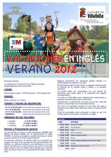 VERANO 2012 - Ayuntamiento Villalbilla