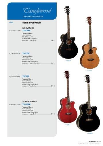 Tanglewood guitarras - Musical El Arco Iris