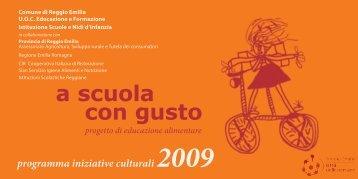 Programma delle iniziative culturali 2009. - Biblioteca Panizzi