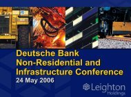 Deutsche Bank Non-Residential and Infrastructure Conference ...