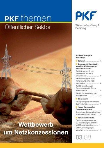 Heft 3 09/2008 Wettbewerb um Netzkonzessionen - PKF Fasselt ...