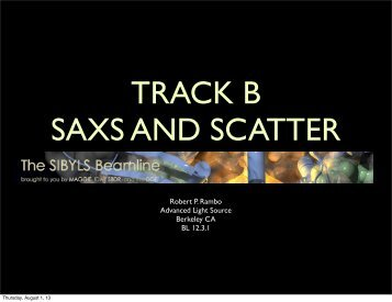 SAXS and Scatter