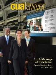A Message of Excellence: - Columbus School of Law