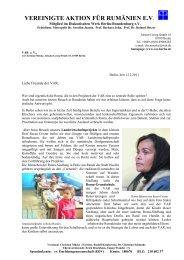 Rundbrief Dezember 2011 - Vereingte Aktion für Rumänien