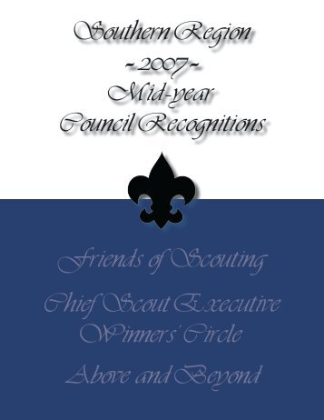 Quality Award Recognitions Book - Boy Scouts of America