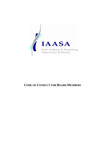 Code of Conduct for Board Members - Irish Auditing & Accounting ...