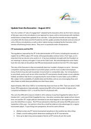 Update from the Executive – August 2012 - Tennis Seniors Australia