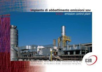 Impianto di abbattimento emissioni sov V.O.C. ... - Tecnologie Pulite