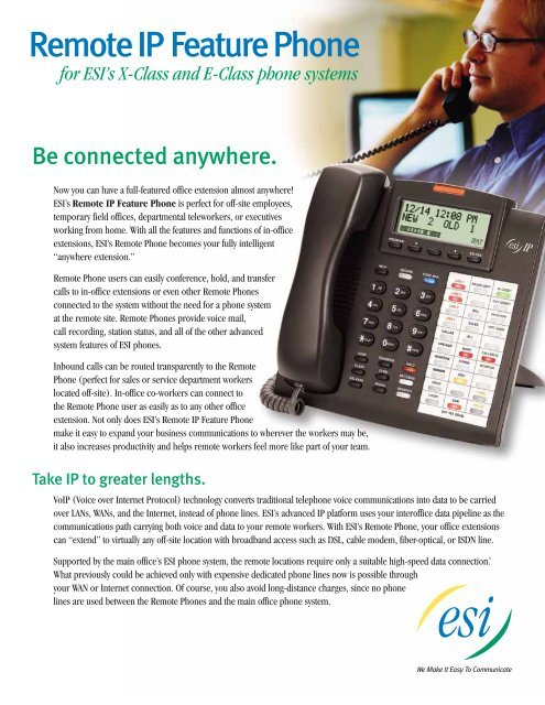 a house phone e call that s all Remote IP Feature Phone brochure - E-Key Network Solutions