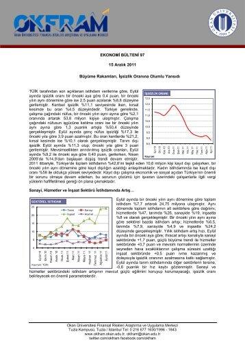 Ekonomi Bülteni 97 - OKFRAM - Okan Üniversitesi