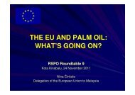 THE EU AND PALM OIL: WHAT'S GOING ON? WHAT'S ... - RT9 2011