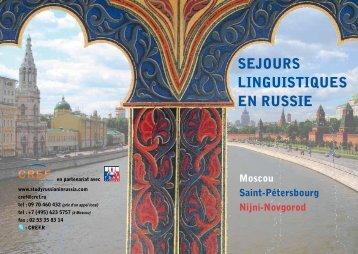 SEJOURS LINGUISTIQUES EN RUSSIE - TSAR Voyages