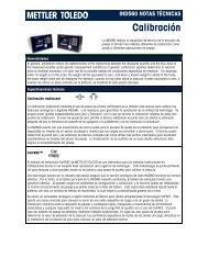 Calibración - METTLER TOLEDO