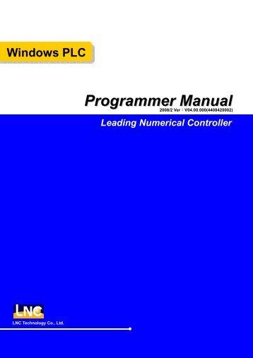 Windows PLC Programmer Manual Leading Numerical Controller
