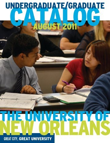 august 2011 undergraduate/graduate - University of New Orleans