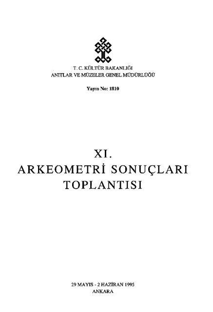 11 Arkeometri Sonua Lara Toplanta Sa 1995 Ka Lta R Ve
