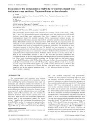 Evaluation of the computational methods for electron-impact total ...