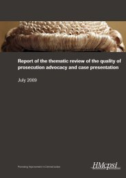 Report of the thematic review of the quality of prosecution ... - HMCPSI