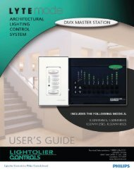 Document: 85-6347A0 - Philips Lighting Controls