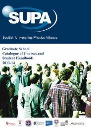 Catalogue of Courses & Student Handbook - SUPA