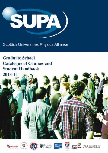 Catalogue of Courses & Student Handbook - SUPA