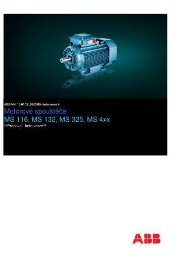 Katalog motorových spouštěčů MS 116 až 495 - VAE ProSys sro