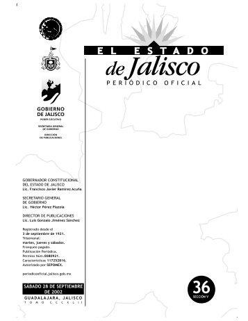 Sección V - Periódico Oficial El Estado de Jalisco - Gobierno del ...