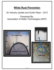 White Rust Prevention - Association of Water Technologies